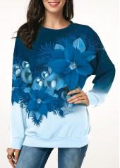 Christmas-Flower-Print-Long-Sleeve-Sweatshirt