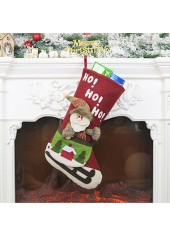 Red-Santa-Claus-Pattern-Christmas-Socks-for-Decoration