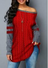 Contrast-Panel-Curved-Hem-Twist-Detail-Sweatshirt
