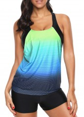 Racerback Rainbow Color Swimwear Top and Shorts