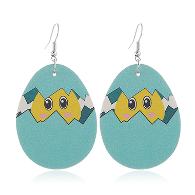 Blue Animal Print Plastic Earring Set