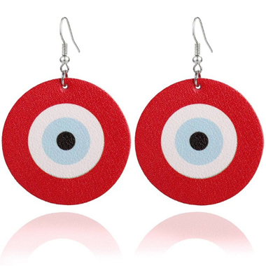 Archery Target Red Funny Earring Set