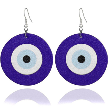 Funny Archery Target Purple Earring Set