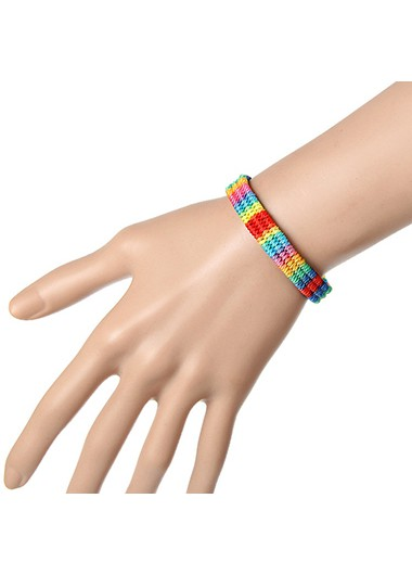 Multi Color Beads Design Bracelet for Women - One Size
