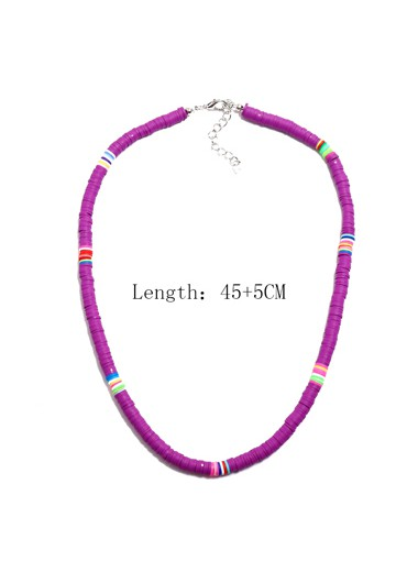 1pc Ethnic Style Purple Necklace for Lady - One Size
