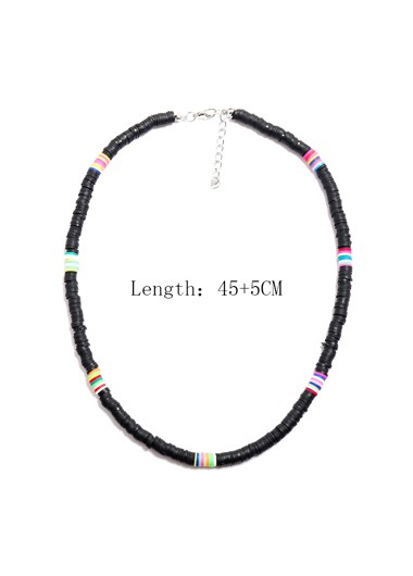1pc Ethnic Style Black Necklace for Lady - One Size