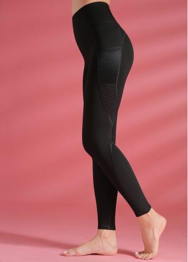 High Waist Black Yoga Leggings - S