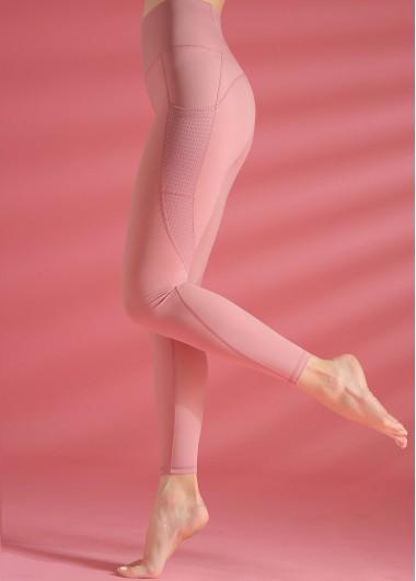 High Waist Peach Pink Yoga Leggings - XL