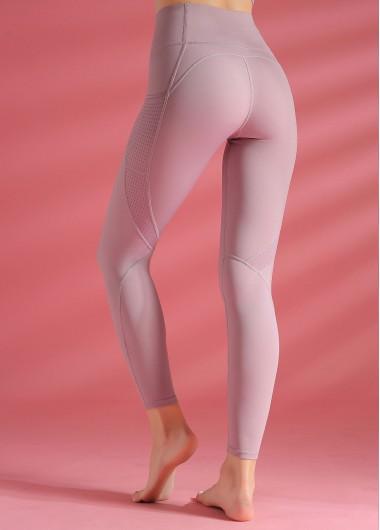 High Waist Light Purple Yoga Leggings - L