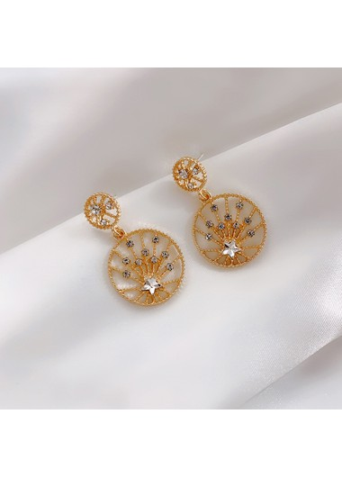 Rhinestone Decorated Tree Shape Earrings for Lady - One Size