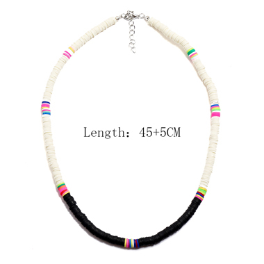 Tribal Style Color Block Necklace for Women