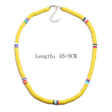 Tribal Style Yellow Necklace for Women