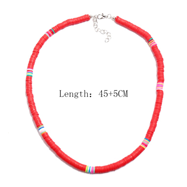 1pc Ethnic Style Red Necklace for Lady