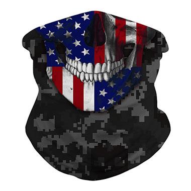 American Flag Print Army Green Neck Tube Bandanas