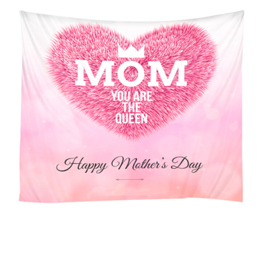 1pc Letter Print Pink Tapestry