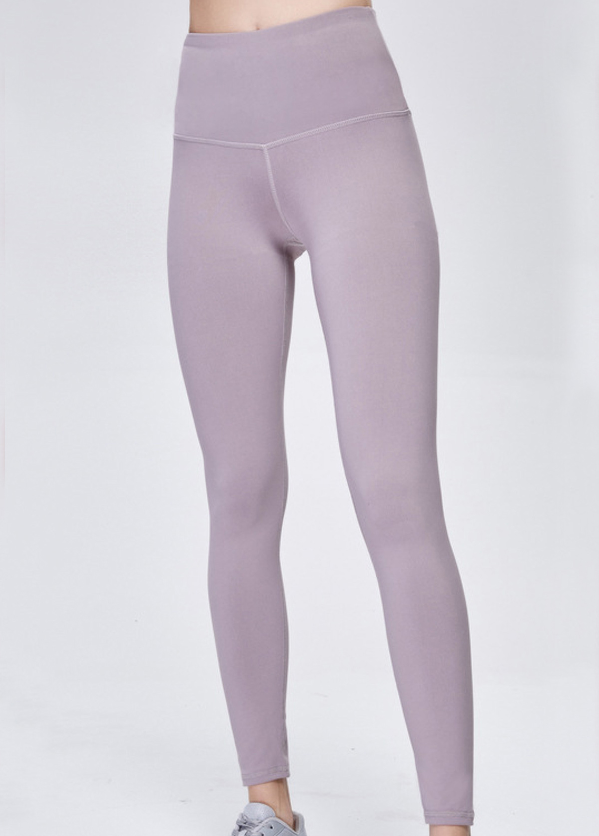 Wide Band Waist Light Purple Yoga Pants