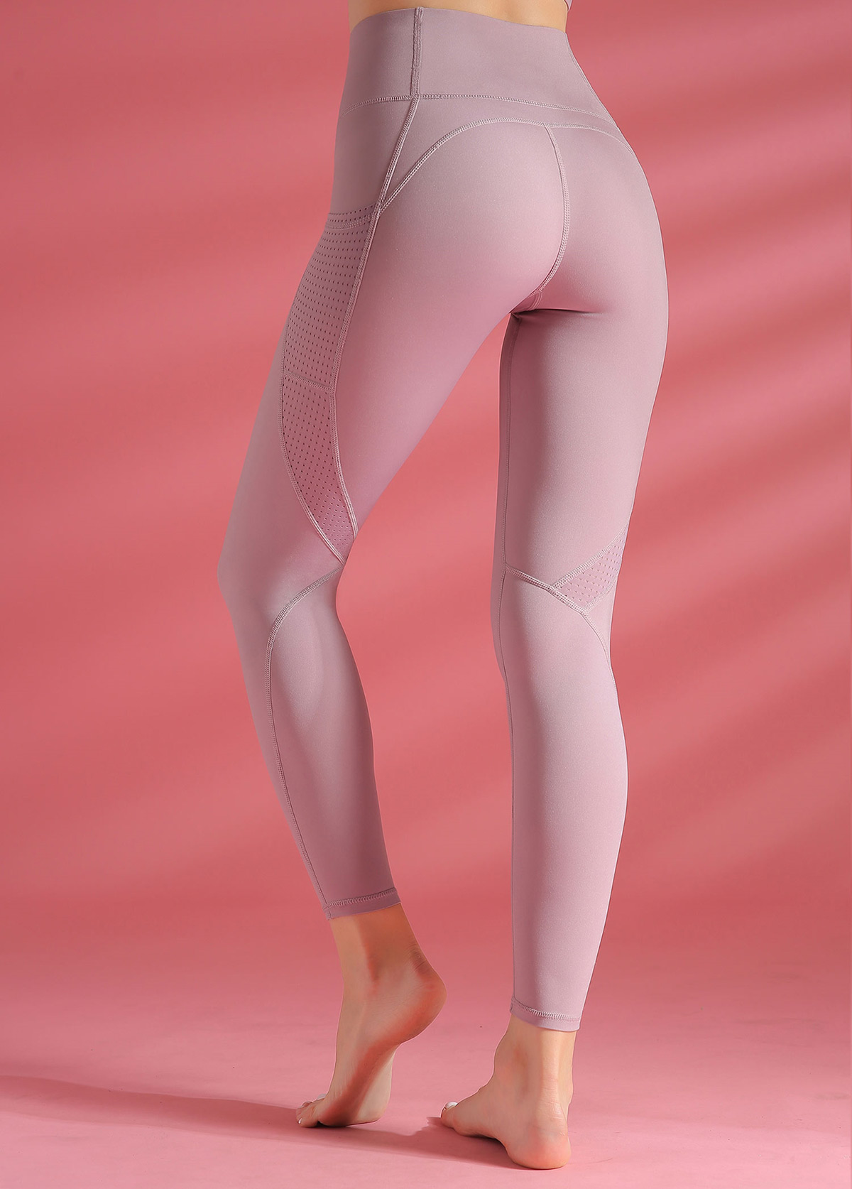 High Waist Light Purple Yoga Leggings