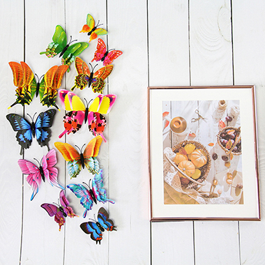 3D Butterfly Shape 12 Pieces Stickers