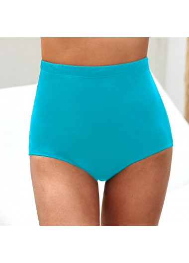 Sky Blue High Waist Swimwear Panty - 10