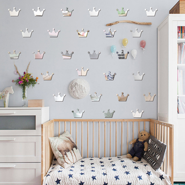 5 X 7cm 15 Pieces Crown Shape Wall Stickers
