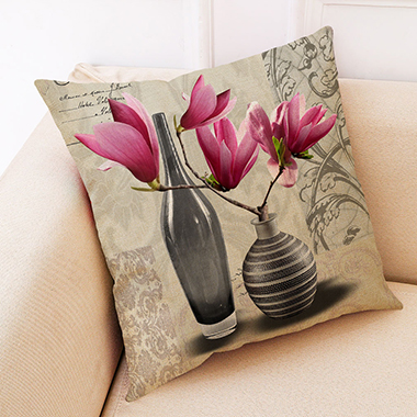 1pc 45 X 45cm Flower Print Pillow Case