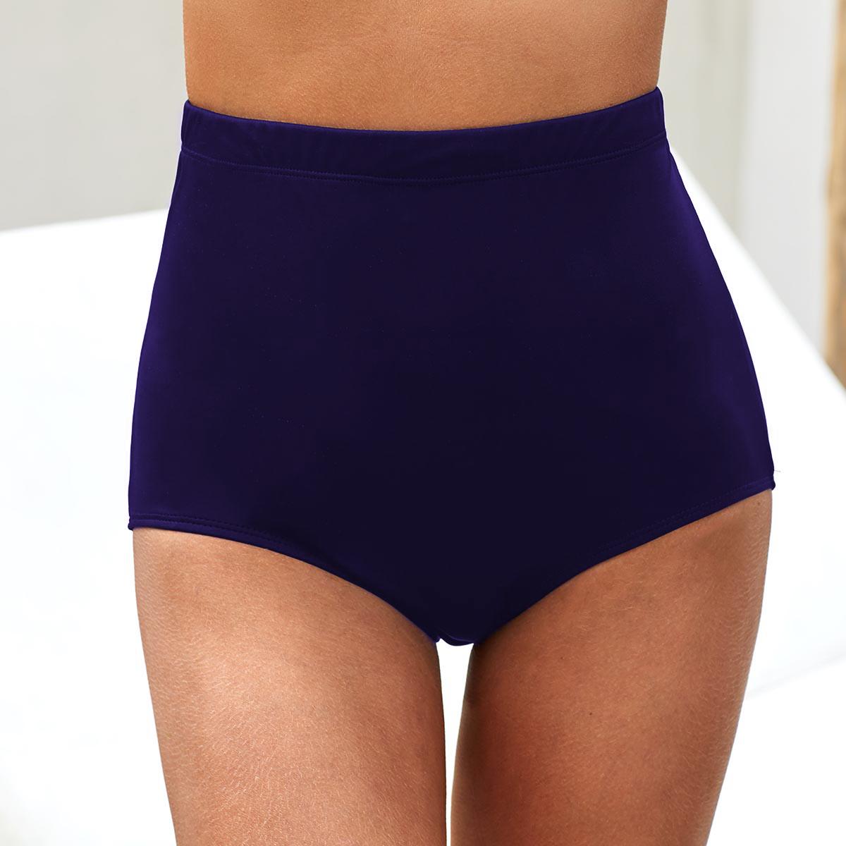 High Waist Navy Blue Swimwear Panty