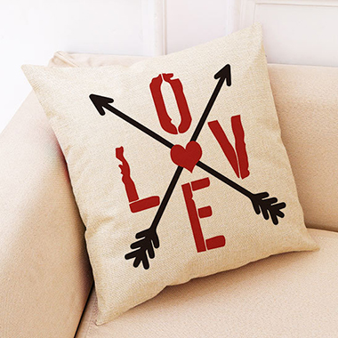 1pc 45 X 45cm Love Print Pillow Case