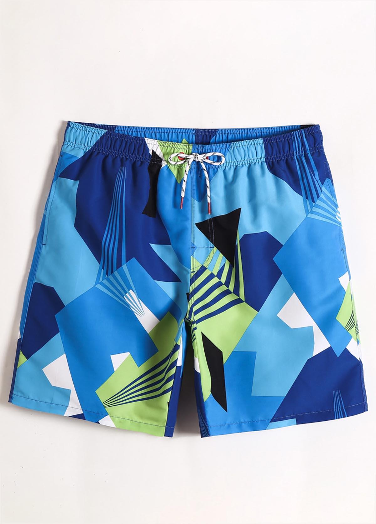 Printed Quick Dry Bermuda Men's Swimwear Trunk