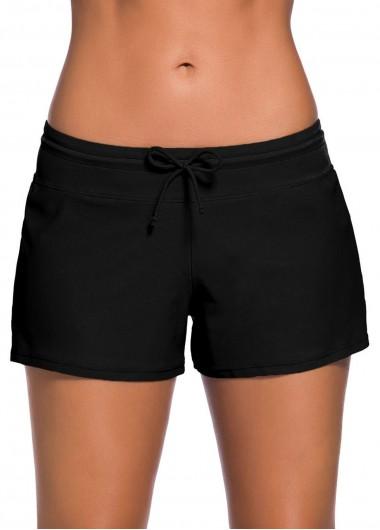 Side Slit Bowknot Detail Swimwear Short - 2XL