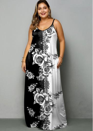 Plus Size Tie Dye Print Spaghetti Strap Dress - 1X
