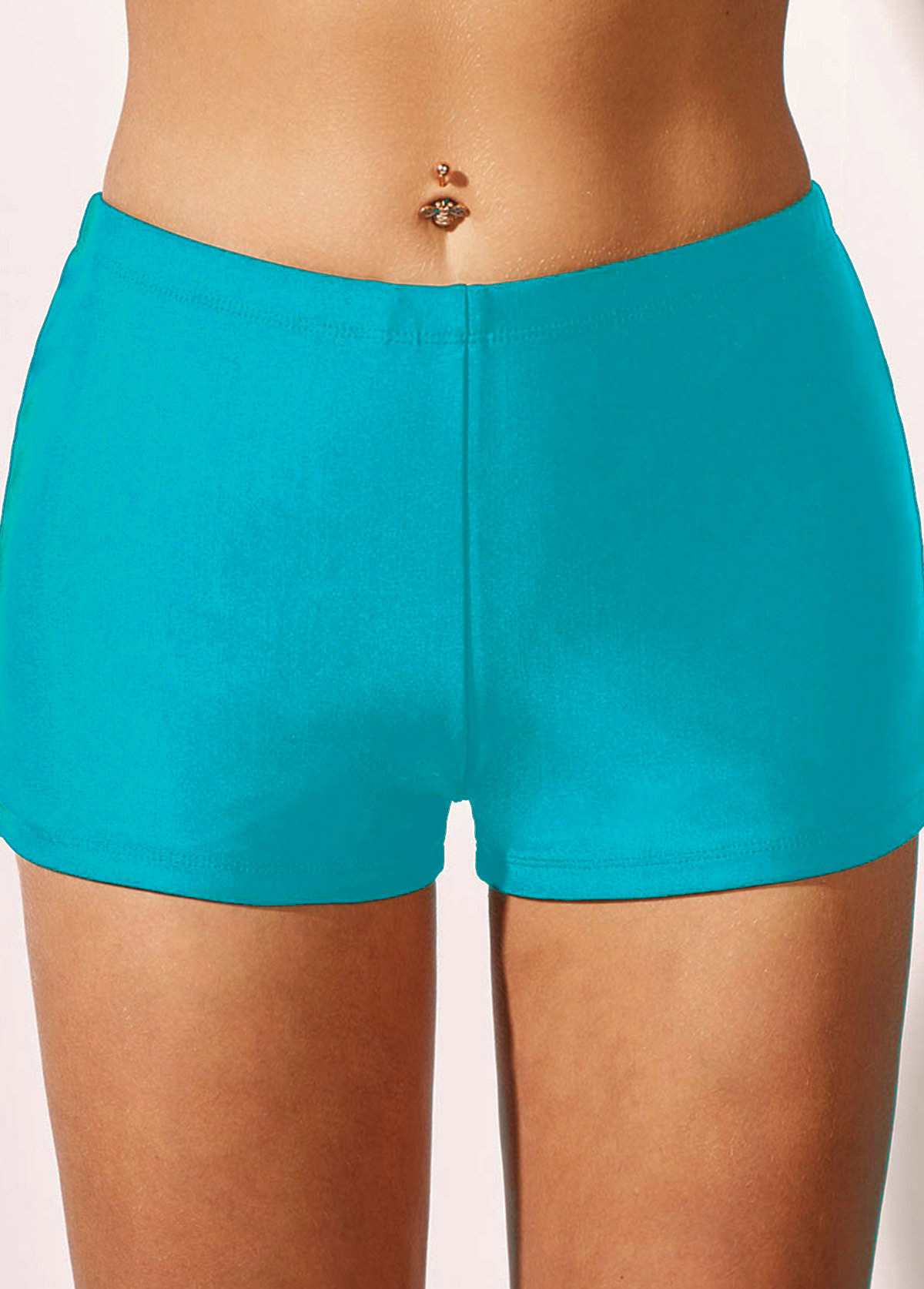 Sky Blue Mid Waist Swimwear Shorts