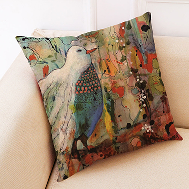 1pc 45 X 45cm Pigeon Print Pillow Case