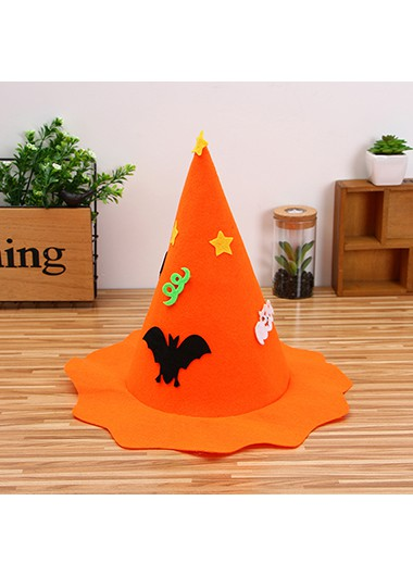 35 X 36cm Halloween Design Orange Hat - One Size