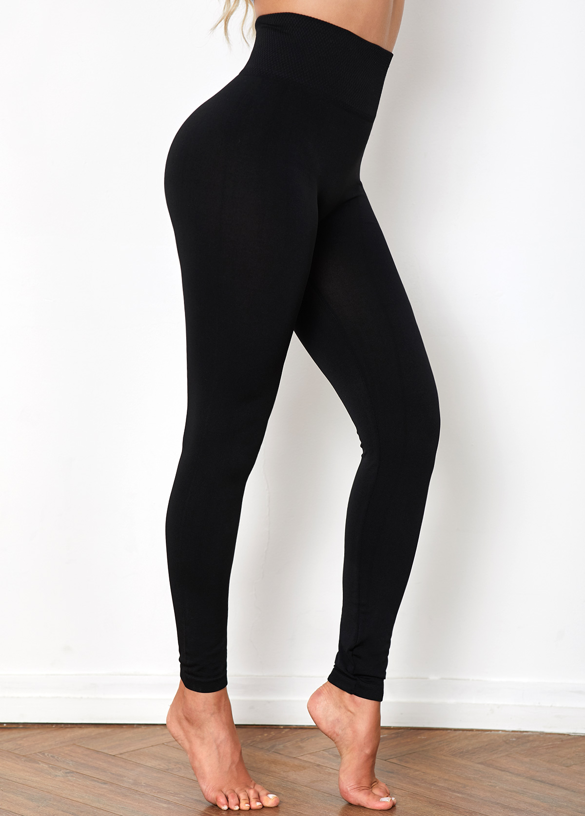 Black High Waist Super Elastic Legging