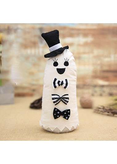 White Cloth Halloween Doll Ornament - One Size