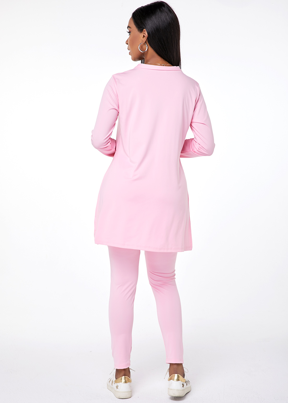 V Neck Long Sleeve Top and Pants