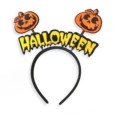 Orange Velvet Cute Halloween Headband