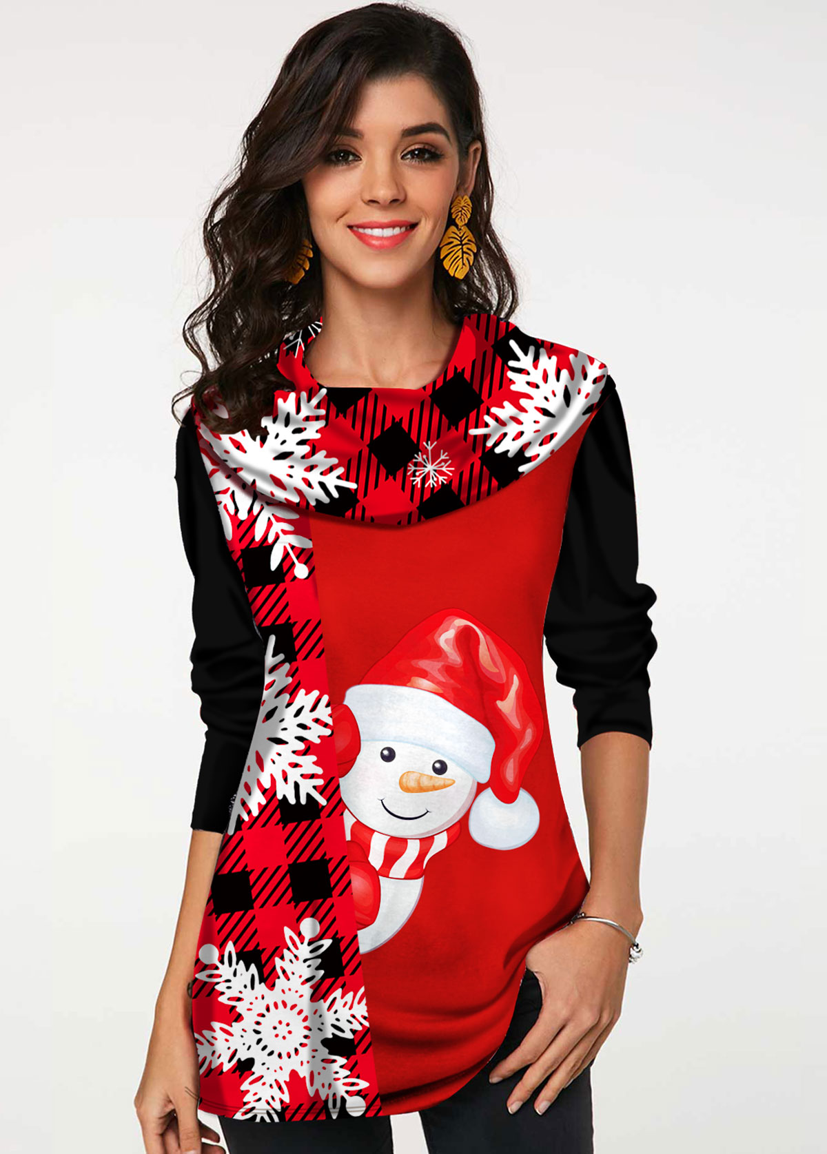 Santa Claus Print Long Sleeve T Shirt