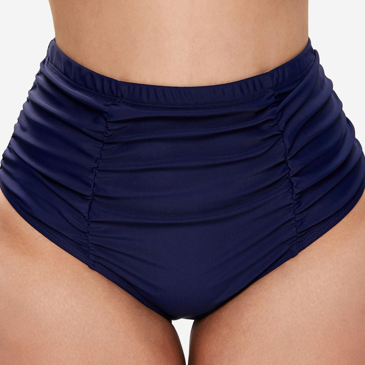 Plus Size Ruched High Waist Swimwear Panty
