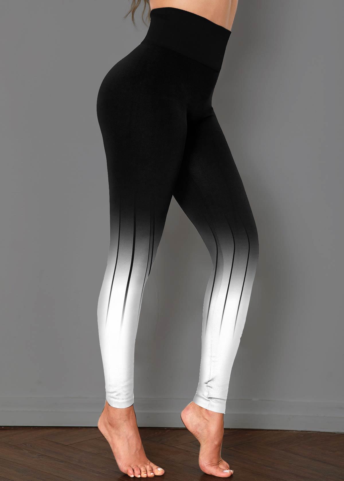 Black Ombre High Waist Skinny Pants