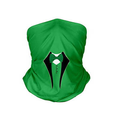 9.4 X 17.7 Inch Green Bowknot Detail Bandana