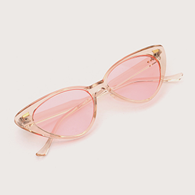 1 Pair Pink Round Frame TR Sunglasses