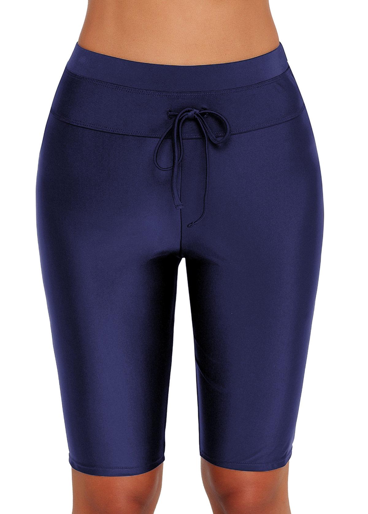 High Waist Drawstring Detail Swim Pants