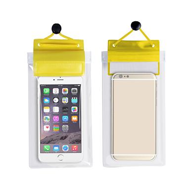 Yellow Transparent Waterproof Sealed Phone Case