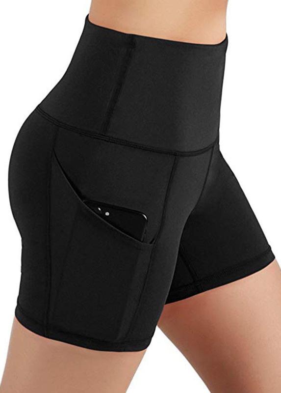 Pocket Detail High Waisted Swim Shorts