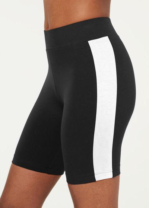 Contrast High Waist Skinny Swim Shorts