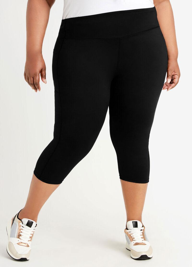 High Waist Skinny Solid Pocket Plus Size Pants