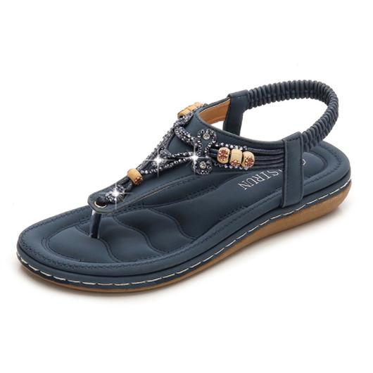 Bohemia Rhinestone Design Slippers for Women