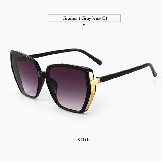 1 Pair Purple Cat Eye Detail Sunglasses