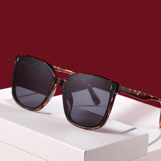 1 Pair Leopard Cat Eye Frame Sunglasses